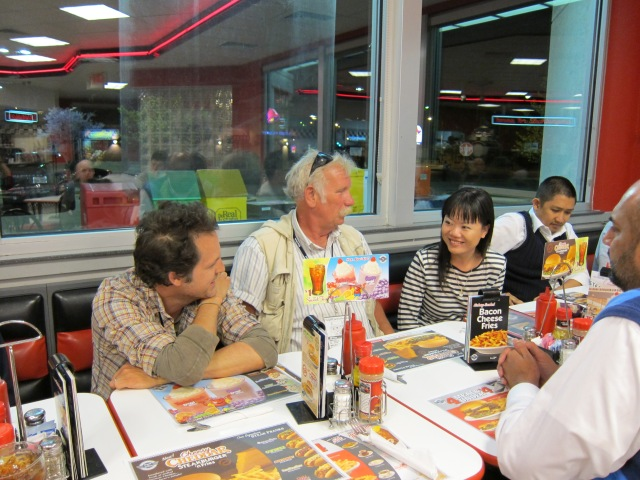 From left to right) James Mottern, Tom Dark, Grace Wang, and Michael  Mirasol