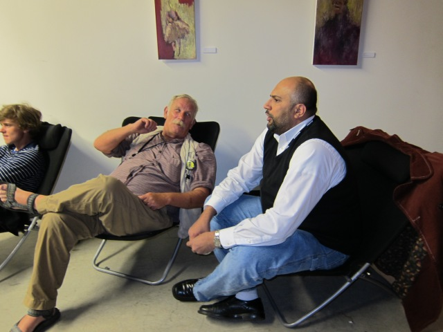 Tom Dark(left) and Omer M. Mozaffar during 2010 Ebertfest